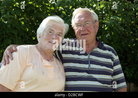 Berlin, Germany, Young couple in portrait - Stock Photo