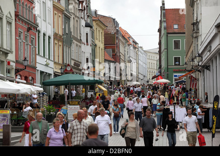 Wismar, Germany, people in the street Kraemer - Stock Photo