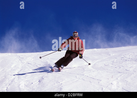 Colorado, Crested Butte. Woman Skiing. - Stock Photo
