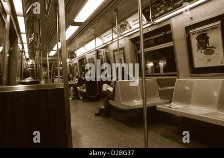new york subway car interior and map stock photo 122858916 alamy. Black Bedroom Furniture Sets. Home Design Ideas