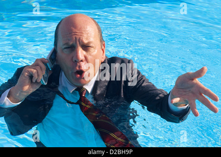 Quot Business Humor Quot Concept Man Swimming Underwater After