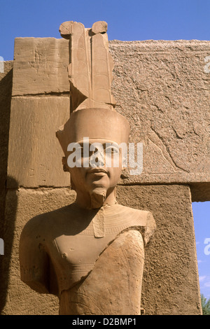 Egypt, Luxor. Ancient Ruins Of The Kings At The Temple Of Karnak. - Stock Photo