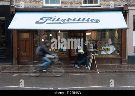Fitzbillies cake and bread shop and restaurant Trumpington Street Cambridge UK - Stock Photo
