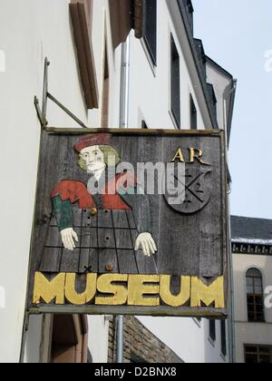 (dpa FILE) A file picture dated 08 March 2010 shows a fassade of the Adam Ries museum in Annaberg-Buchholz, Germany. - Stock Photo