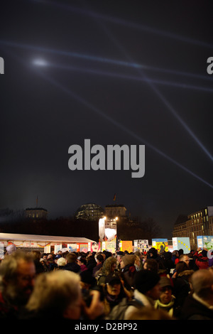 Berlin, Germany, celebrations of the 20th Anniversary of the fall - Stock Photo