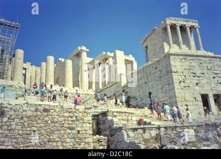 Greece, Athens, Acropolis - Propylaea, Temple Of Athena - Stock Photo