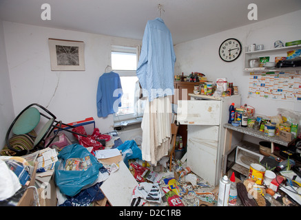 Essen, Germany, is evacuated Messiewohnung - Stock Photo