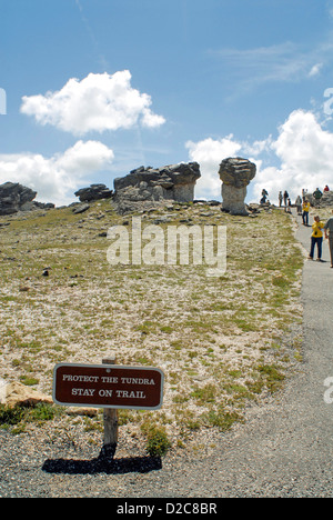 Tundra Communities Trailhead, Hiking Trail, Rocky Mt. National Park, Colorado - Stock Photo