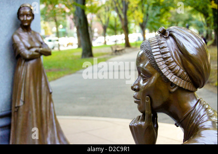 Boston Massachusetts Statue Poet Phillis Wheatley (1753 – December 5 1784) Enslaved Age Eight Is Widely Known As - Stock Photo
