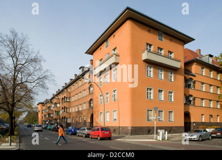 Berlin, Germany, a residential complex from the time of the municipal housing in the 20s - Stock Photo