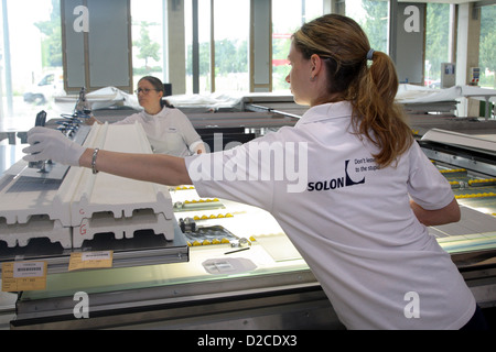 Berlin, Germany, the staff of the solar energy company Solon SE - Stock Photo