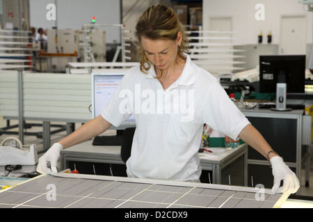 Berlin, Germany, employee of the solar energy company Solon SE - Stock Photo