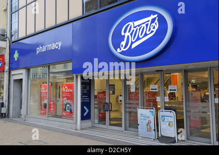 Boots Retail shop or unit on UK street - Stock Photo