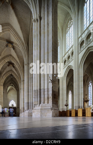 Nantes, France, Interior of the Cathedral of Nantes - Stock Photo