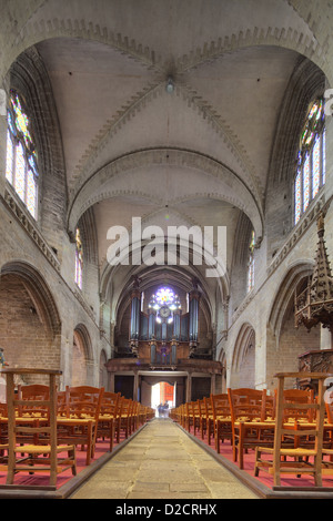 Vannes, France, Interior of the Cathedral of Nantes - Stock Photo
