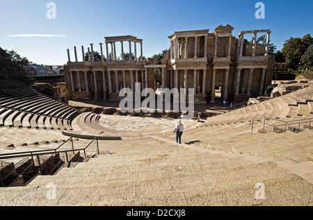 Theater, Ruins of the Roman Empire, Merida, Spain - Stock Photo