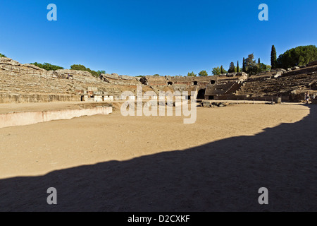 Amphitheater, Ruins of the Roman Empire, Merida, Spain - Stock Photo