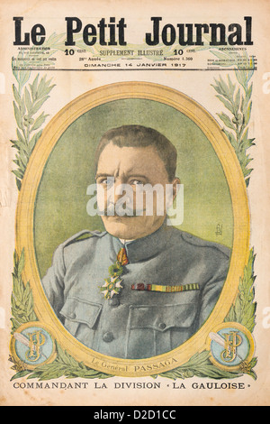 Le Petit Journal Illustrated Supplement (14-01-17): Front cover showing French WW1 General Passaga - Stock Photo