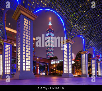 Taipei, Taiwan famed cityscape. - Stock Photo