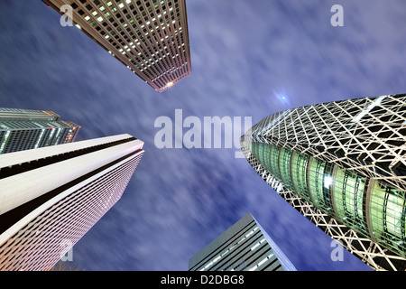 High Rises in Shinjuku Ward, Tokyo, Japan. - Stock Photo
