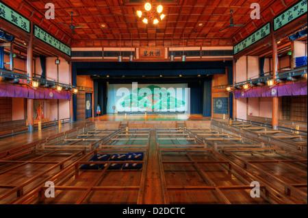 Uchiko-za Kabuki Theater December in Uchiko, Japan. - Stock Photo