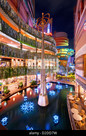 Canal City shopping and entertainment complex in Fukuoka, Japan. - Stock Photo