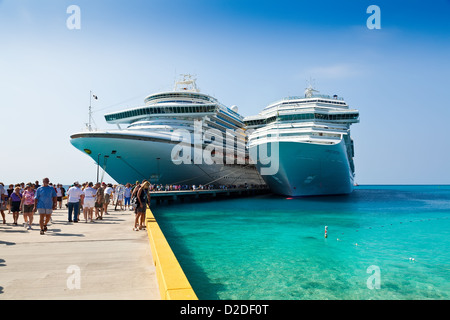 Cruise Ships in Turks and Caicos Islands - Stock Photo