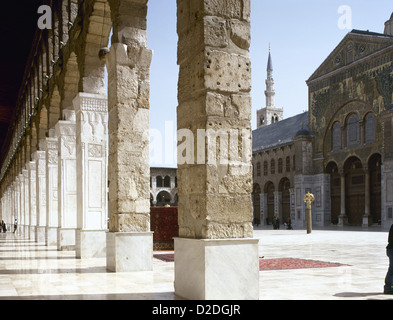 Syria. Damascus. Umayyad Mosque or Great Mosque of Damascus. Built in the early 8th century. - Stock Photo