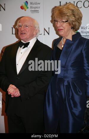Irish President Michael D Higgins and his wife Sabina Coyne at the Lincoln film premiere Savoy Cinema in Dublin, - Stock Photo