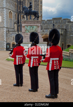 Changing The Guard At Windsor Castle - Stock Photo