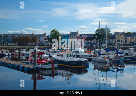 Fishing boats in Ballycastle marina, County Antrim, Northern Ireland. - Stock Photo