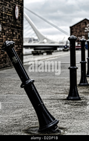 Background of The Samuel Beckett Bridge, Dublin, Ireland - Stock Photo
