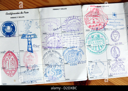 Berlin, Germany, the credential of a pilgrim Way of St. James - Stock Photo