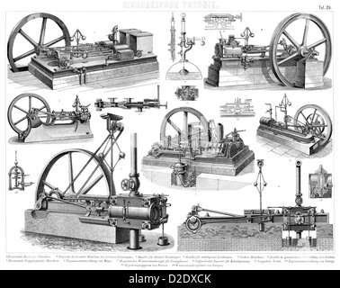 Vintage steam pump machines from the 19th Century Stock Photo ...