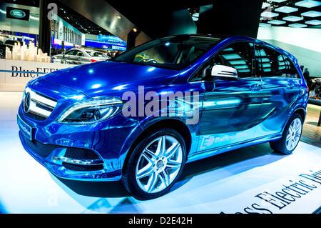 Jan. 17, 2013 (Detroit, Michigan, U.S.) North American International Auto Show: Mercedes-Benz B-Class Electric Drive - Stock Photo