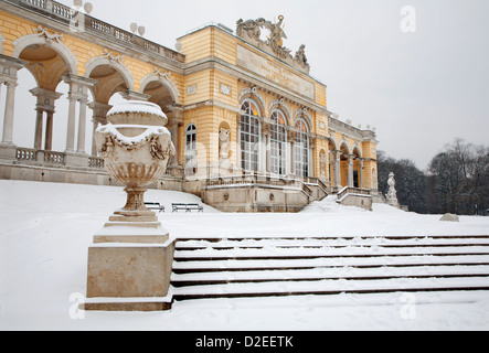 Vienna - Gloriette from Schonbrunn palace in winter - Stock Photo