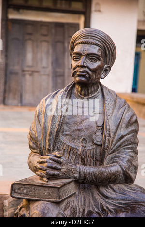 Sculpture of a famous poet, seen on the Heritage Walk, Ahmedabad, Gujarat, India - Stock Photo