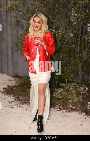 British singer model and actress Rita Ora attends the Chanel spring/summer 2013 collection presented during the - Stock Photo