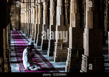 Jama Masjid or Friday Mosque, Ahmedabad, Gujarat, India - Stock Photo