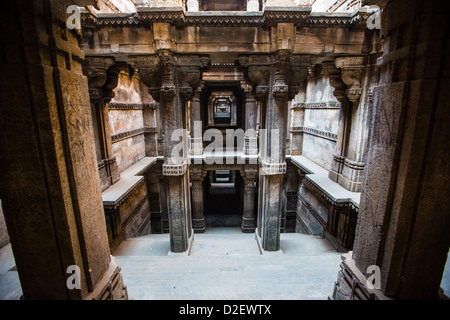 Hari-ni Vav step well in Ahmedabad, India - Stock Photo