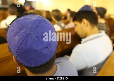 Don Isaac Abravanel synagogue. Jews Paris. France. - Stock Photo