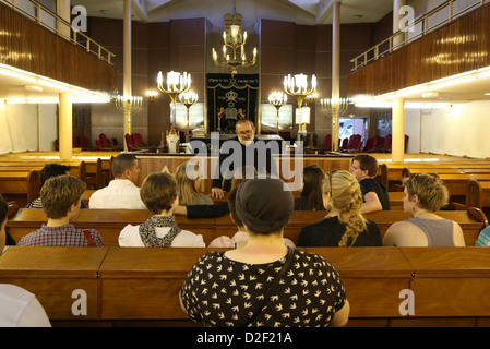 Inter-religious meeting in Don Isaac Abravanel synagogue Paris. France. - Stock Photo