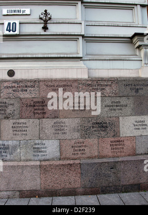 Exterior of the Museum of Genocide in Vilnius - Stock Photo