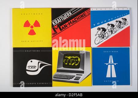 Kraftwerk CD covers - Stock Photo