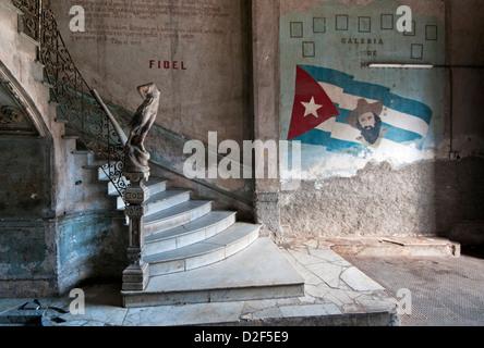 Staircase at La Guarida Paladar Restaurant, Centro Habana, Havana, Cuba - Stock Photo