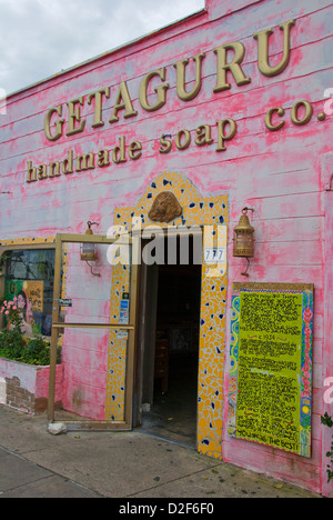 Geta Guru handmade soap co. store in Tarpon Springs, Florida - Stock Photo