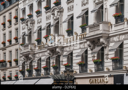 Westminster hotel, Paris, France Stock Photo, Royalty Free Image ...