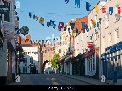 Chepstow High Street, Chepstow, Monmouthshire, South Wales, UK - Stock Photo