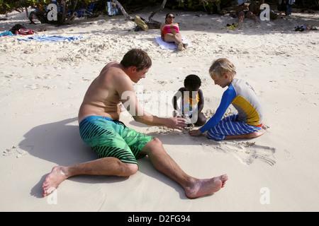 Trunk Bay, St. John, US Virgin Islands, Caribbean - Stock Photo
