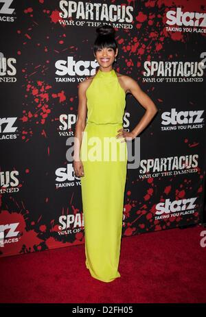 Cynthia Addai-Robinson at arrivals for SPARTACUS: WAR OF THE DAMNED Season Premiere, Regal Cinemas L.A. Live, Los - Stock Photo